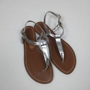 Ralph Lauren Silver Sandals